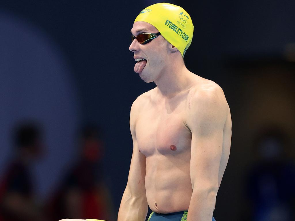 Aussie swimmer Isaac Stubblety-Cook prepares for the semi final of the men's 200m breaststroke. Picture: Adam Head