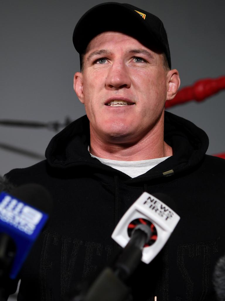 Former NRL star come professional boxer Paul Gallen.