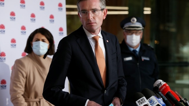 """NSW Treasurer Dominic Perrottet said the state should """"open open for everyone"""" once residents have had the opportunity to be fully vaccinated. Picture: Getty Images"""