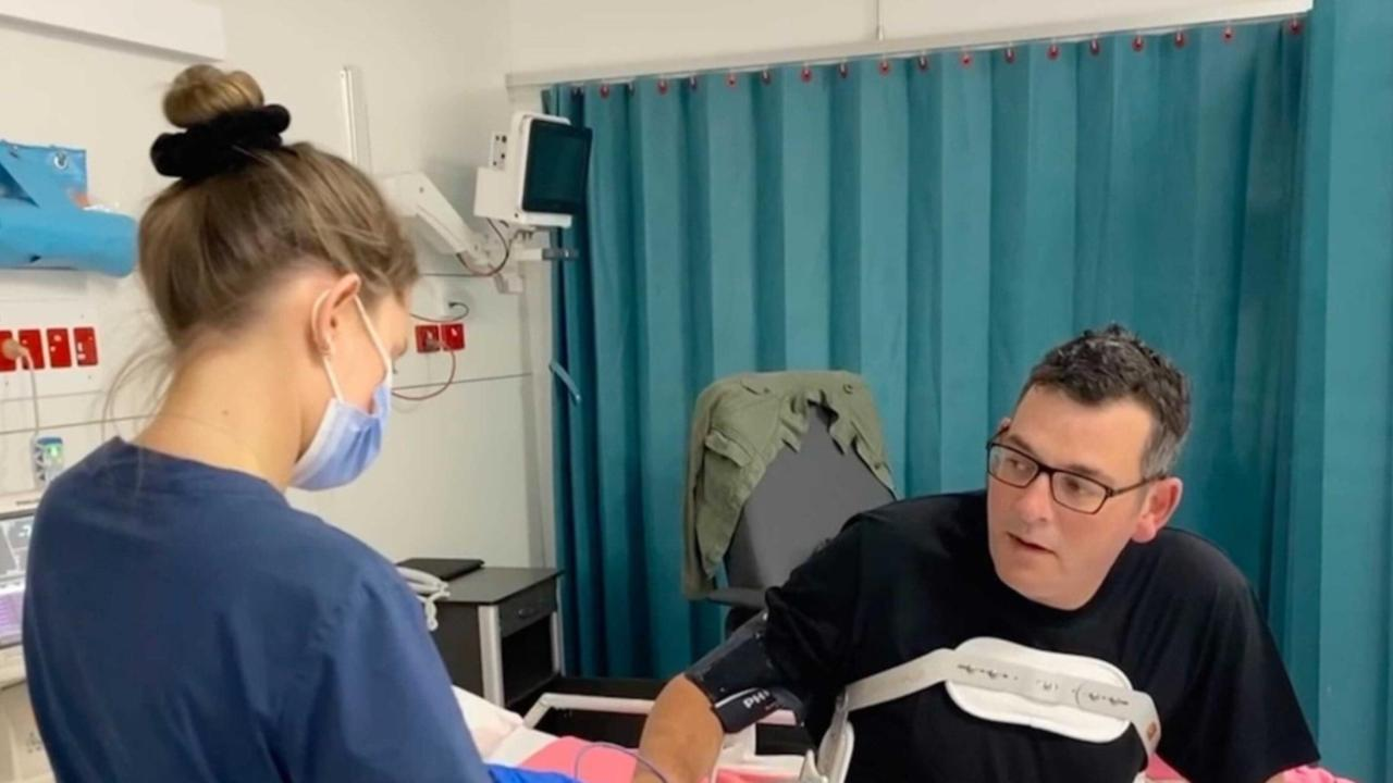 Victorian Premier Daniel Andrews spent six days in hospital. Picture: supplied Daniel Andrews