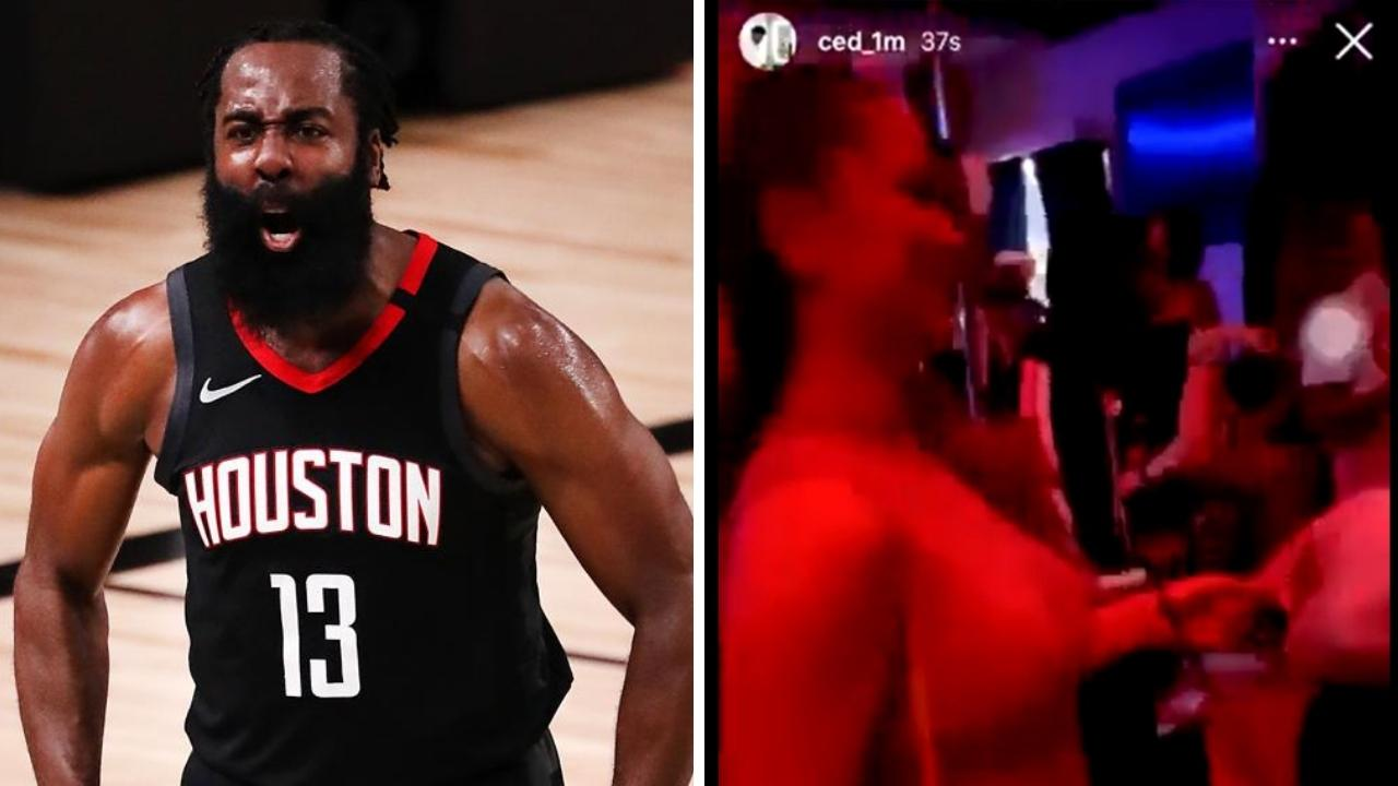 James Harden was revolting against his own team and spotted by fans in Las Vegas venues. Photo: Getty, Instagram.