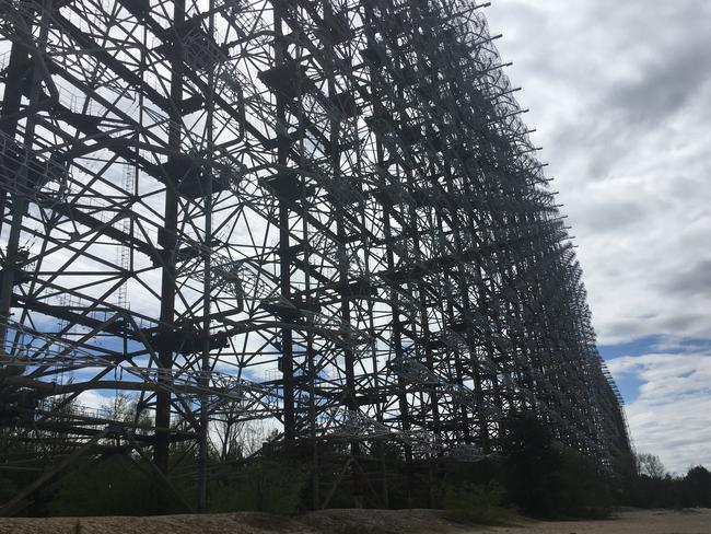 The Russian Woodpecker is a Soviet-era anti-ballistic missile system that remains in current day Ukraine. Picture: Julia D'Orazio