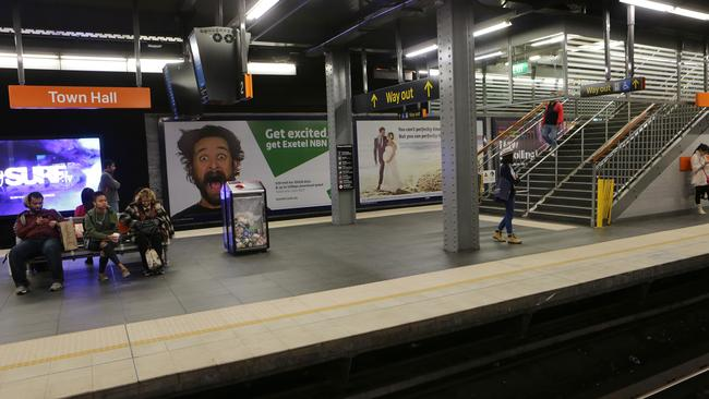 Sydney's underground Town Hall station is one of Australia's busiest.