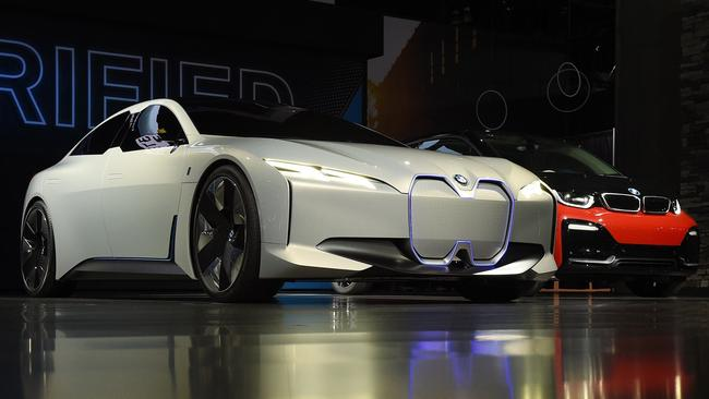 BMW's all-electric I Vision Dynamics concept car at the recent LA motor show. Pic: Supplied.