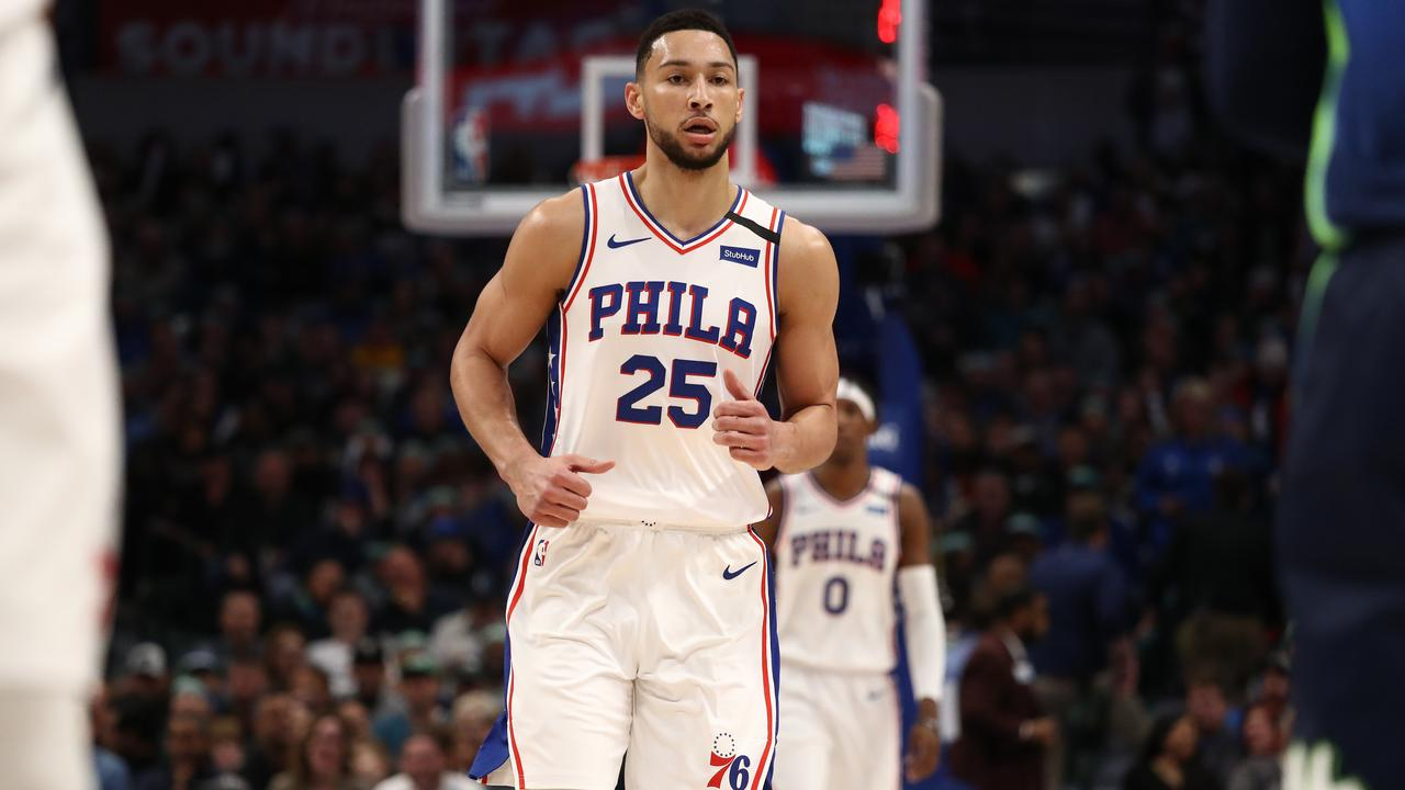 Simmons and his 76ers fell in Dallas.