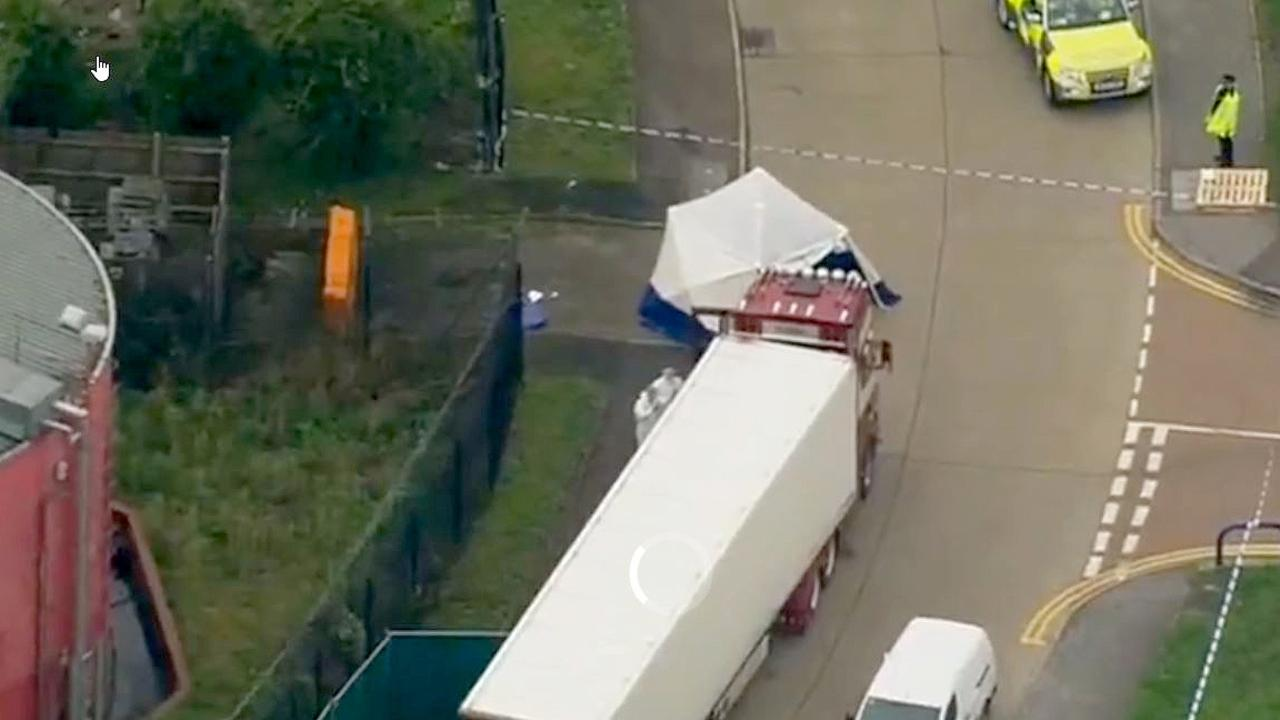Chief Superintendent Andrew Mariner said the truck arrived in the UK on Saturday. Picture: Sky News