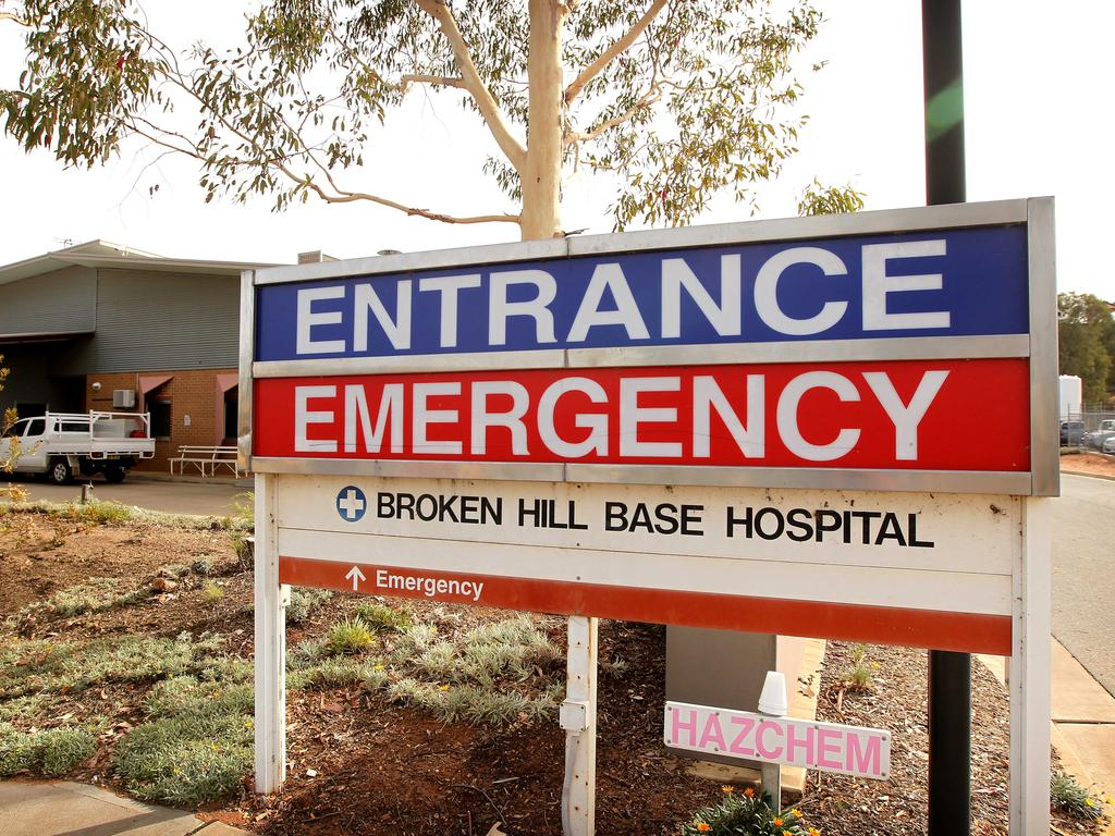 Broken Hill Base Hospital is only staffed by one doctor overnight.