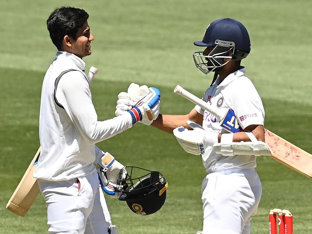Shubman Gill (left) and Ajinkya Rahane were outstanding for India.