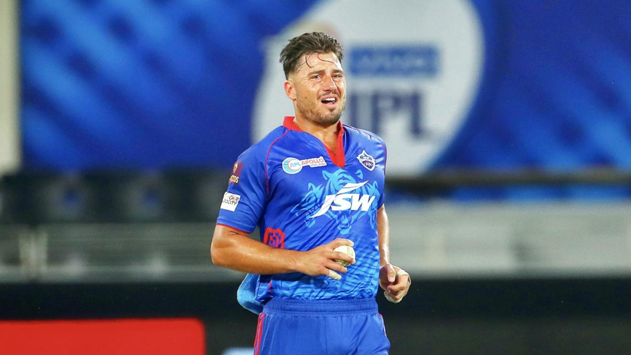 Aussie cricket fans will be sweating on the fitness of Marcus Stoinis. Picture: Twitter/Delhi Capitals