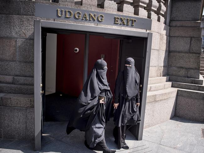 Women who wear veils such as the niqab or burqa have said they would rather leave the country than remove them. Picture: Mads Claus Rasmussen/Ritzau Scanpix via AP