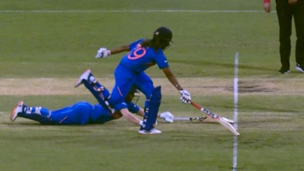 Close run out call for India
