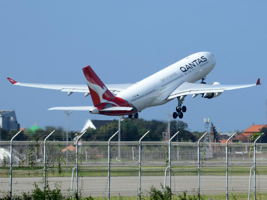 Qantas expects to resume flying to Covid-safe destinations from December, depending on Federal Government decisions. Picture: Sonny Tumbelaka / AFP