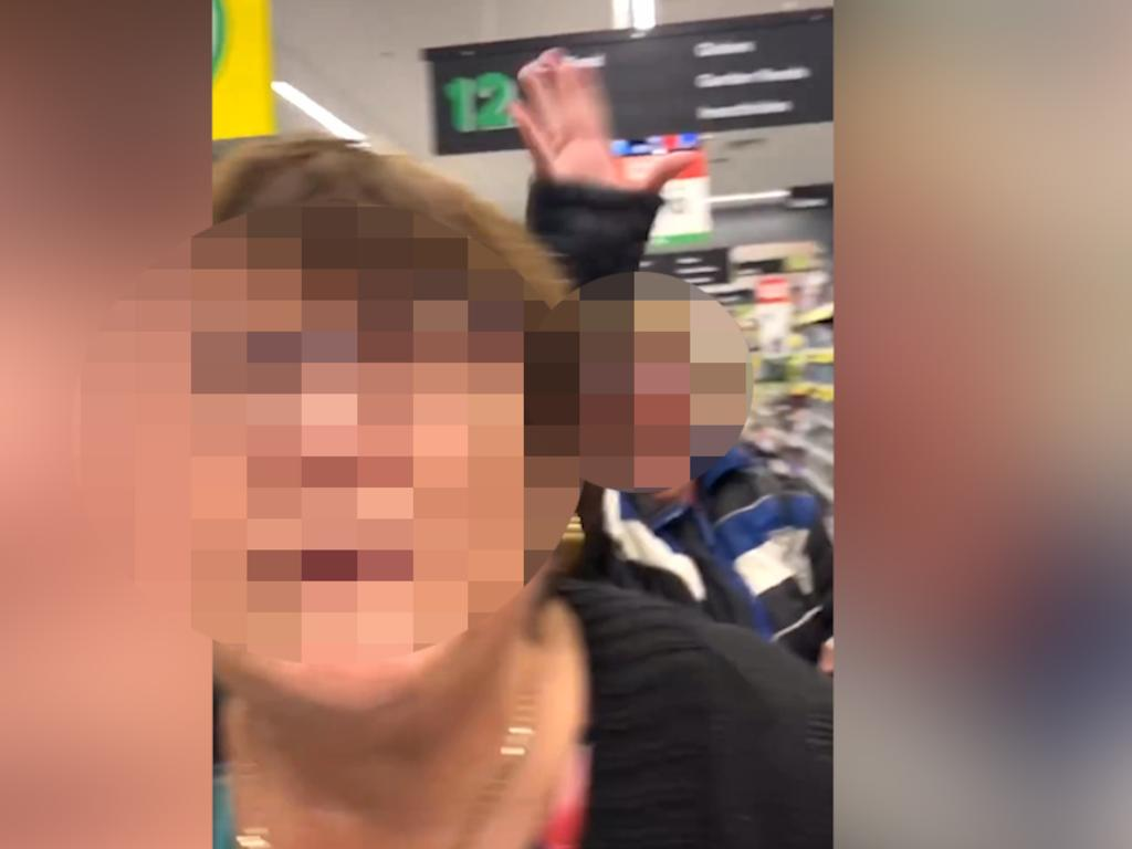 A woman has been filmed having a racist rant at Woolies. Picture: @hairwithlinda