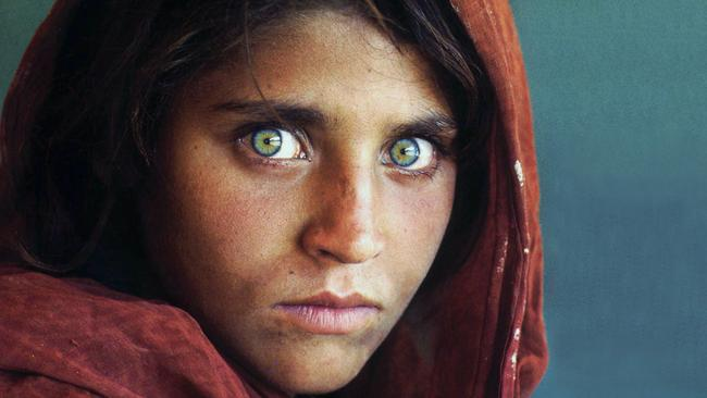Afghan refugee Sharbat Gula who appeared on the cover of National Geographic magazine in 1985. Picture: Steve McCurry