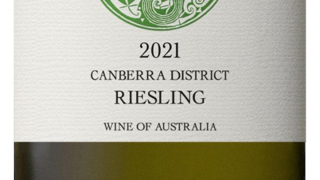 Clonakilla Riesling 2021 is  $32 per bottle. Picture: Supplied