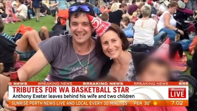 Professional Perth basketballer Anthony Exeter dies from injuries after boat canopy causes accident (Sunrise)