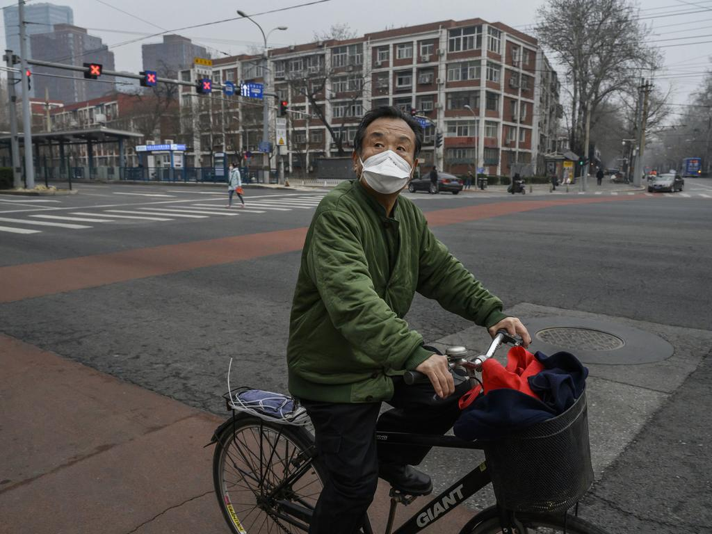 The number of those who have died from the virus in China climbed to over 3016 on Friday, mostly in Hubei province, while an increase in cases have been reported in other countries across Asia. Picture: Kevin Frayer/Getty Images