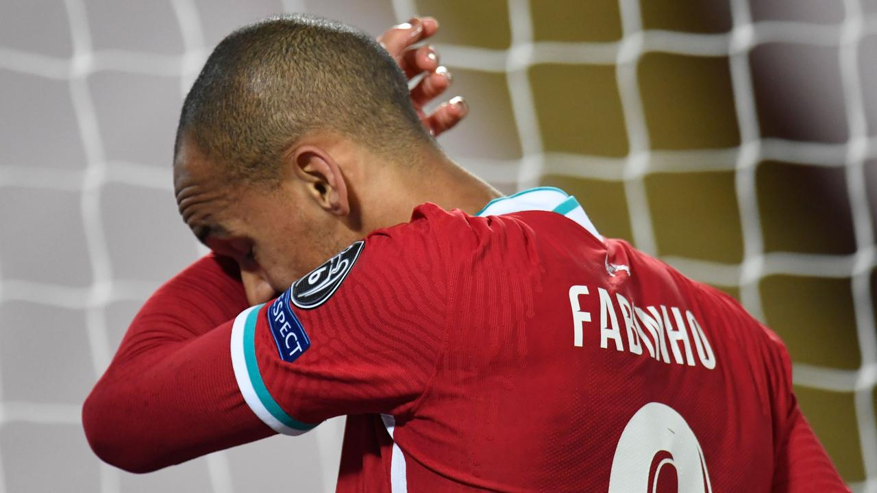 Fabinho will be sidelined this week. (Photo by PETER POWELL / POOL / AFP)