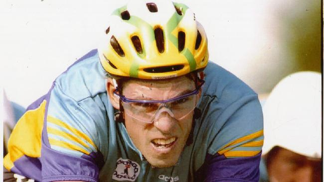 Australian cyclist Phil Anderson in training for the Commonwealth Games in 1994.