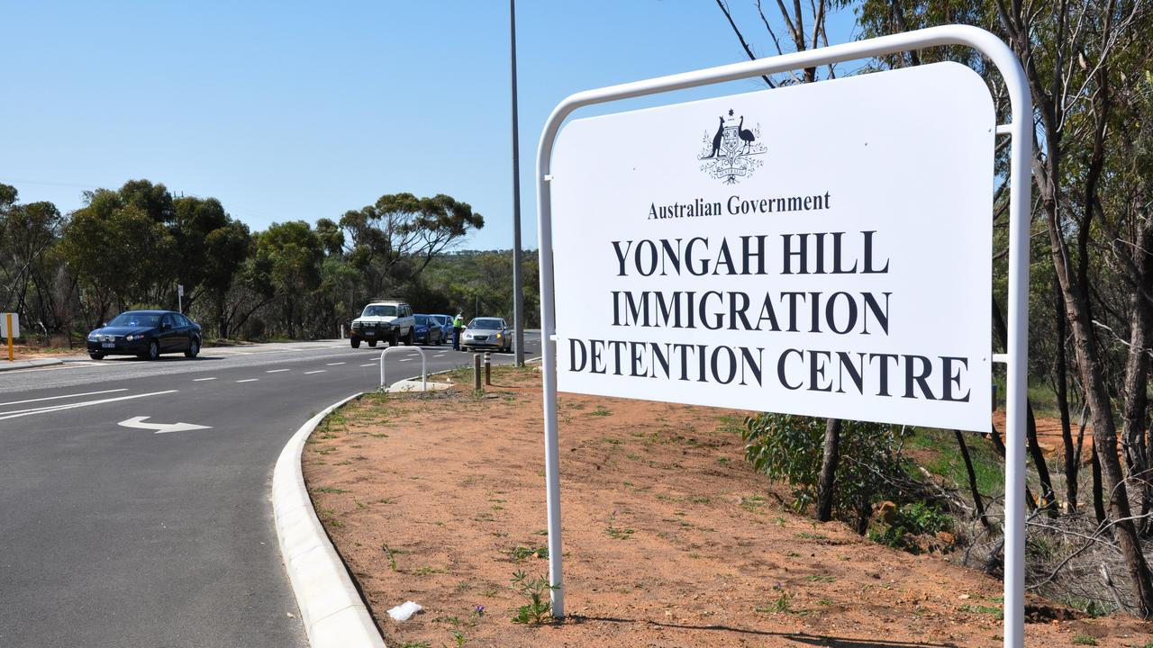 The entrance to Yongah Hill Immigration Detention Centre. Picture: AAP Image