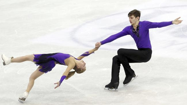 Ekaterina and Harley on the ice. (AP Photo/Chiang Ying-ying)
