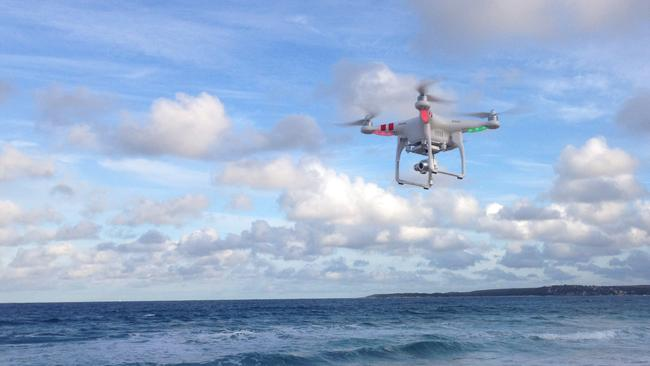 Not a bird, not a plane. Drones are being used in an increasing number of ways. Picture: William Robbins/Wildlife Marine