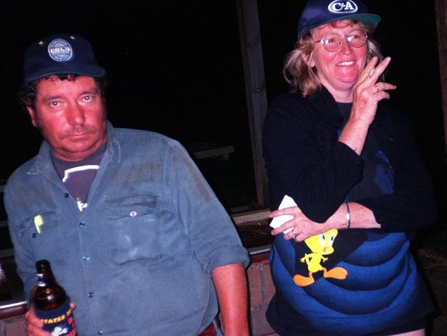 Katherine Knight with partner John Price who she skinned, decapitated and then cooked his head with vegetables and gravy for his children's dinner.