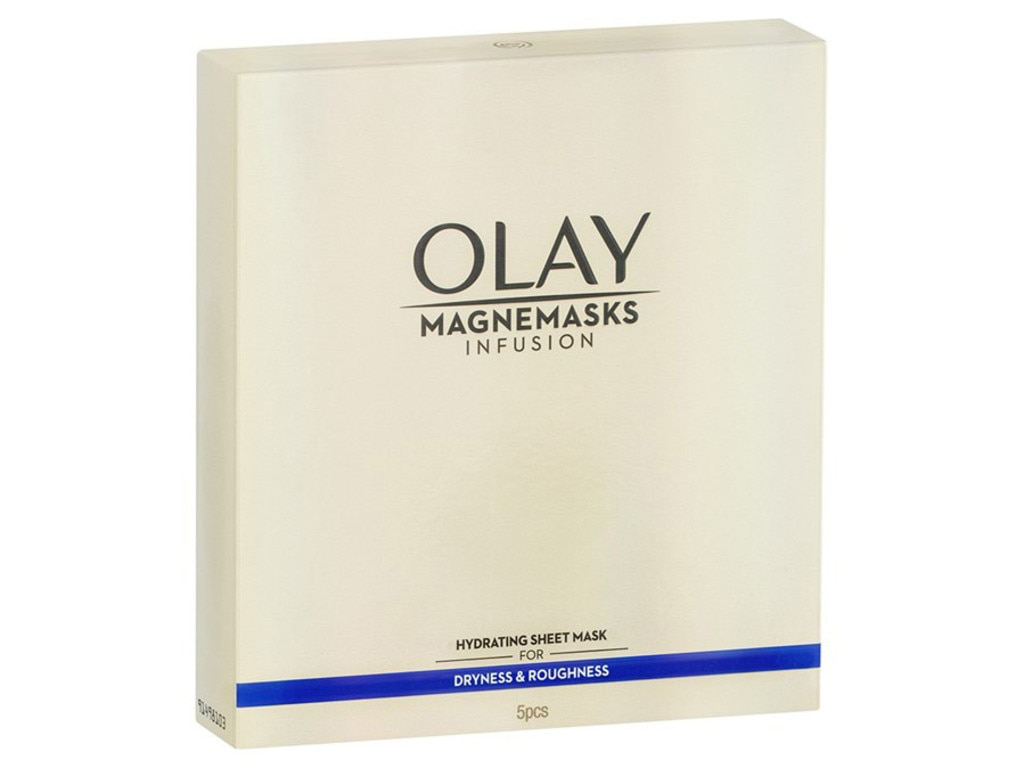 Olay magnemasks infusion hydrating masks. Picture: Supplied