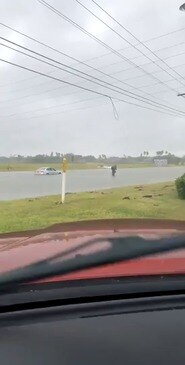 Cars Submerged as Tropical Storm Hanna Brings Severe Flash Flooding