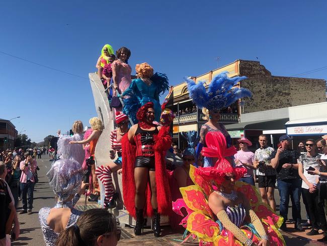 One of the many parade floats at Broken Hill's Broken Heel festival.