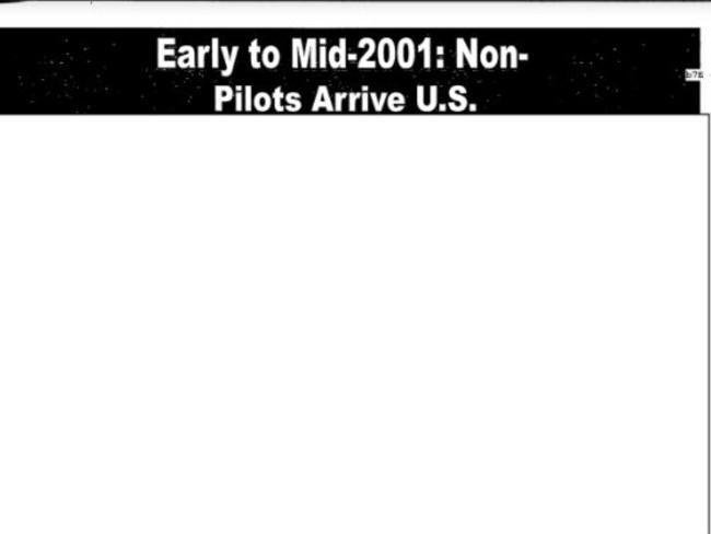 Nothing to see here. Several pages of the FBI's internal slide show on 9/11 have been redacted and nine have been deleted entirely.