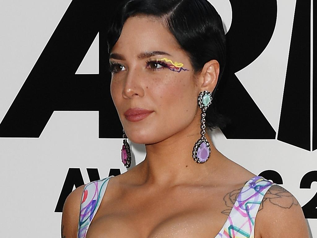 Halsey arrives at the 33rd Annual ARIA Music Awards at The Star in Sydney, Wednesday, November 27, 2019. (AAP Image/Dan Himbrechts) NO ARCHIVING