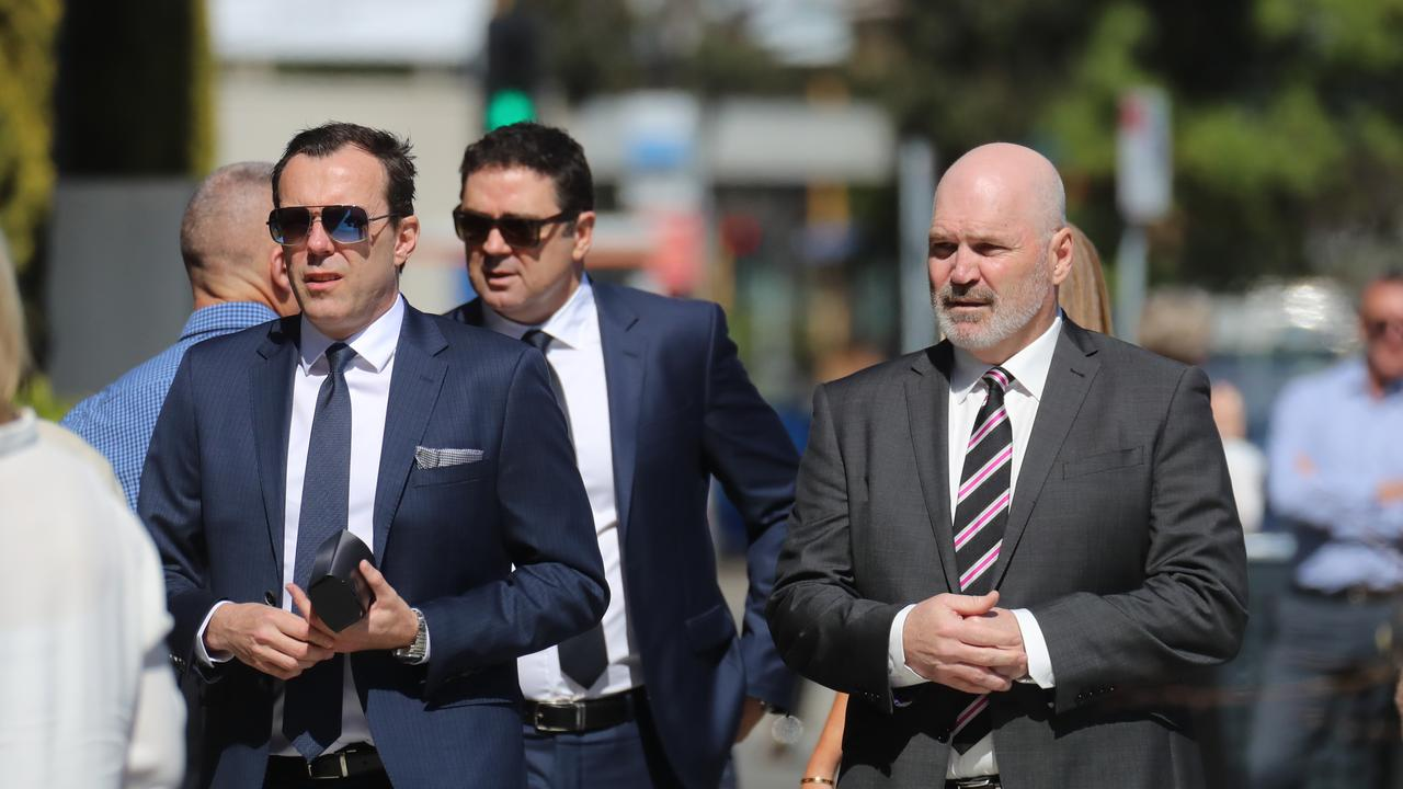 Three of Danny Frawley's closest mates have paid tribute to the St Kilda great, with touching eulogies at his funeral.