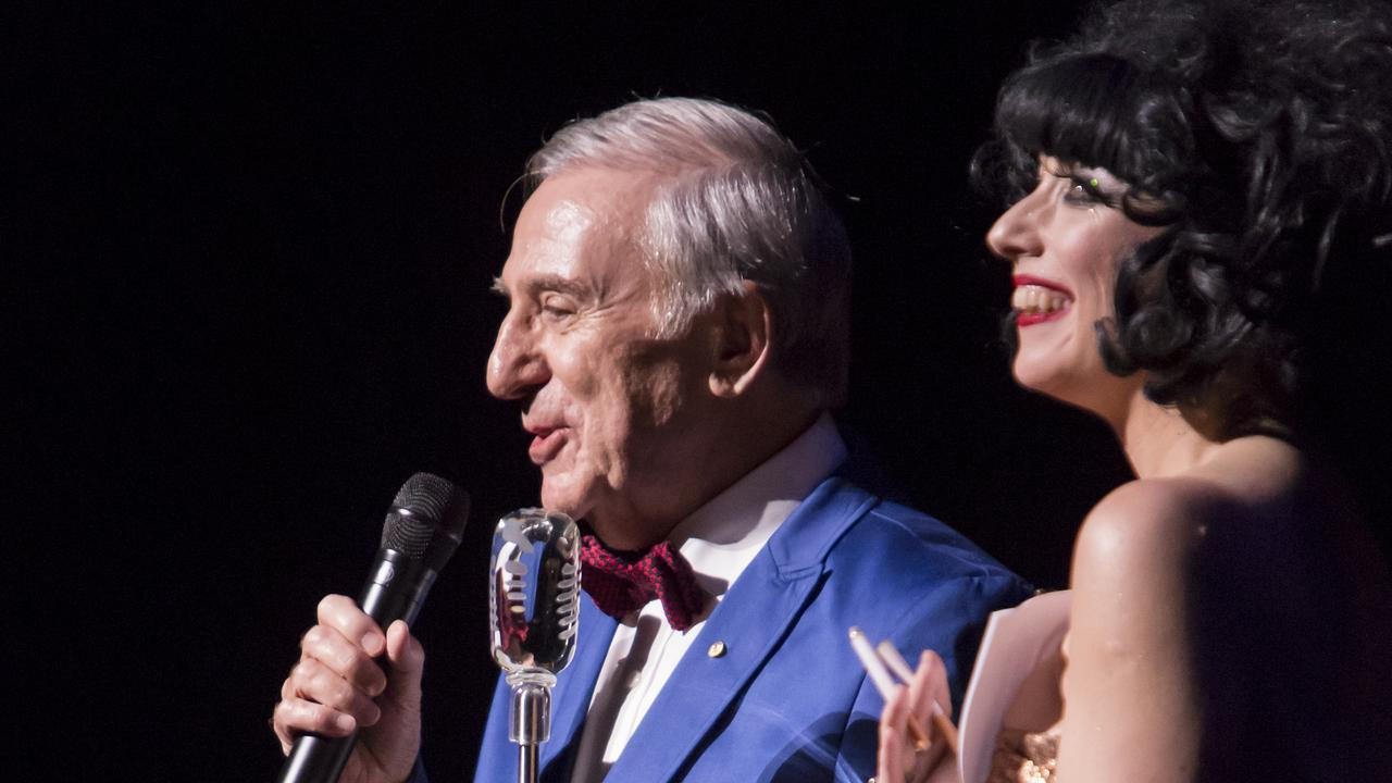 Frank Ford on stage with international cabaret star Meow Meow.