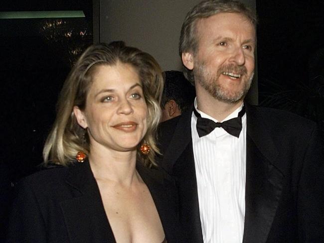 Linda Hamilton and James Cameron.