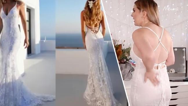 Bride's see-through wedding dress shocker