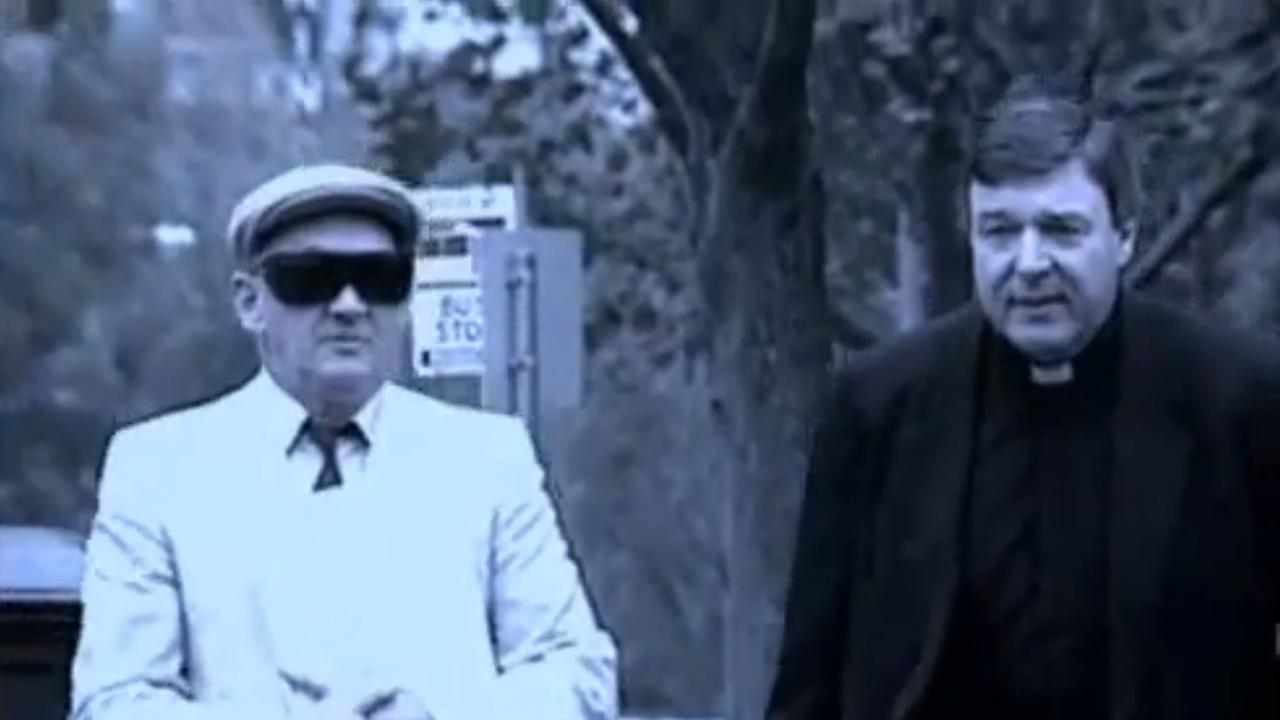 George Pell walking side-by-side into court with Gerald Ridsdale, the man later found to be Australia's worst paedophile priest, in 1993. Picture: Supplied