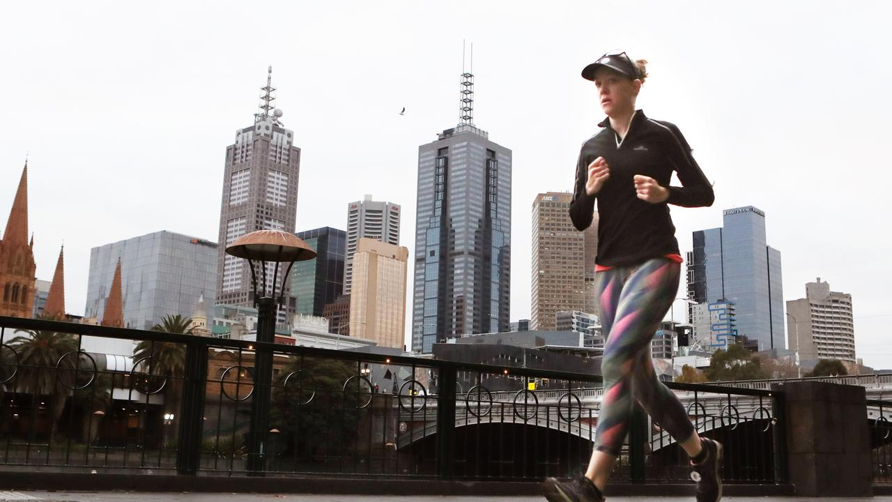 Melburnians can only exercise for an hour a day. Picture: David Crosling
