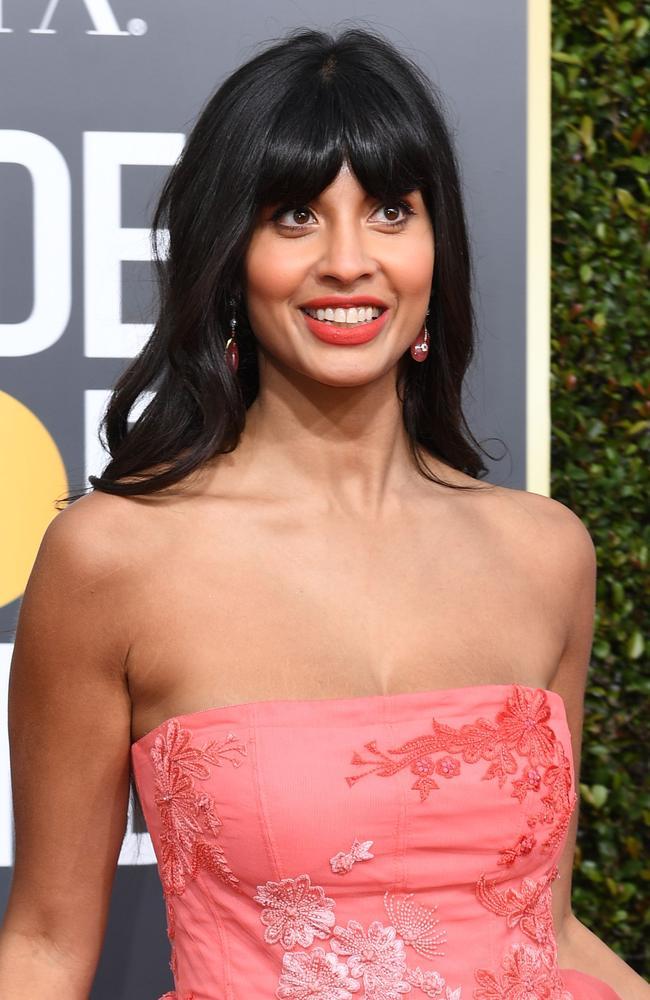 The Good Place star Kamilah Al-Jamil — wait we mean Jameela Jamil. Picture: Valerie Macon/AFP