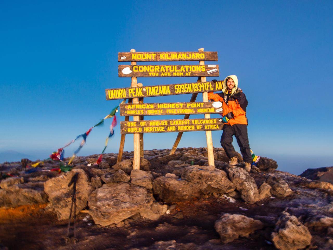 ESCAPE: KILIMANJARO, ALISTAIR PATON, SUNDAY ESCAPE -  Summit sign. Picture: Alistair Paton/Supplied