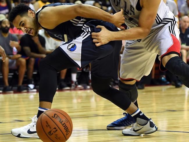 Corey Webster in NBA Summer League with the Dallas Mavericks.