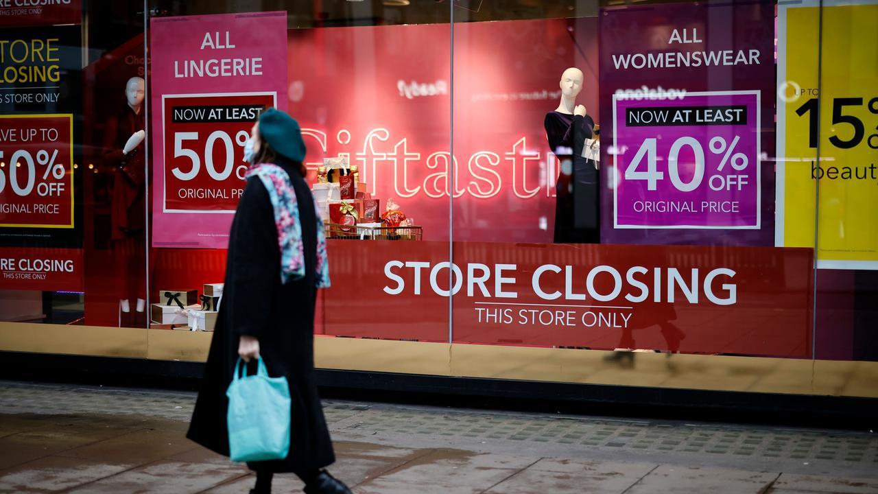 Debenhams' final weeks led to a fire sale. Picture: Tolga Akmen/AFP