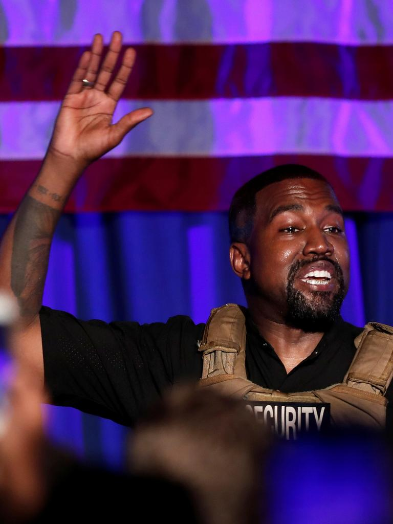 West has taken aim at Jenner in several tweets. Picture: Reuters/Randall Hill