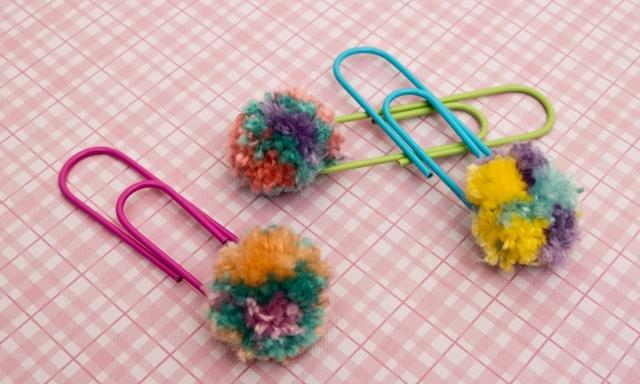 Craft activities for kids: How to make pom pom paper clips | Video