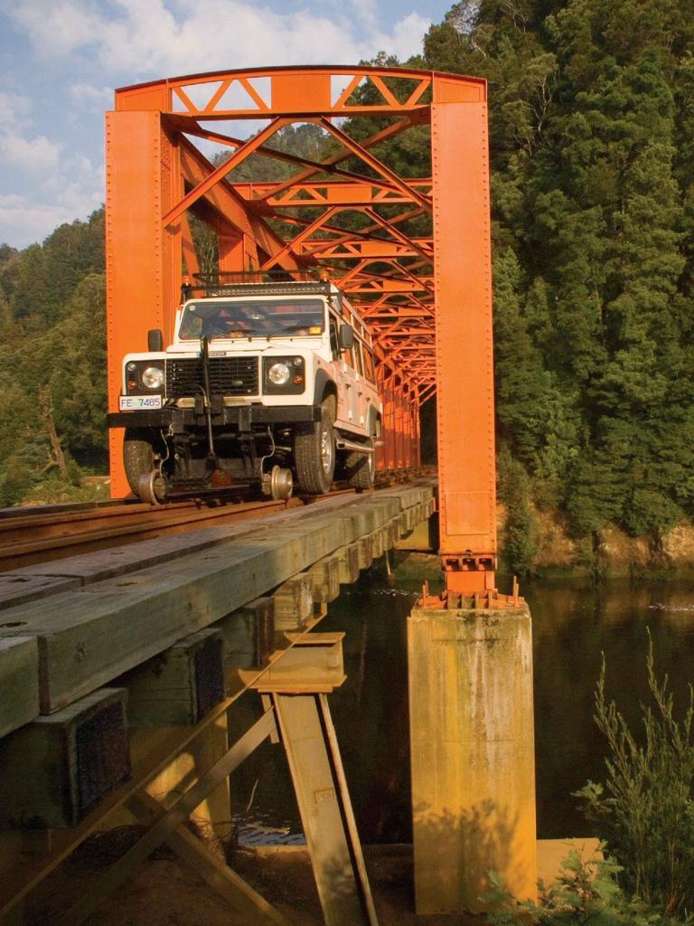 The Iron Bridge on the rugged West Coast of Tasmania near Strahan.