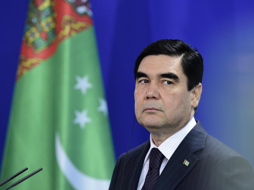 The President of Turkmenistan Gurbanguly Berdymukhamedov. Picture: AFP