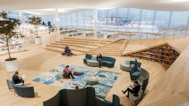 21/32Oodi Helsinki Central Library, Helsinki Finland Located in the Töölönlahti district, this modern Helsinki library is a shared relaxing and meeting-place. Picture: Toumas Uusiheimo/VisitFinland