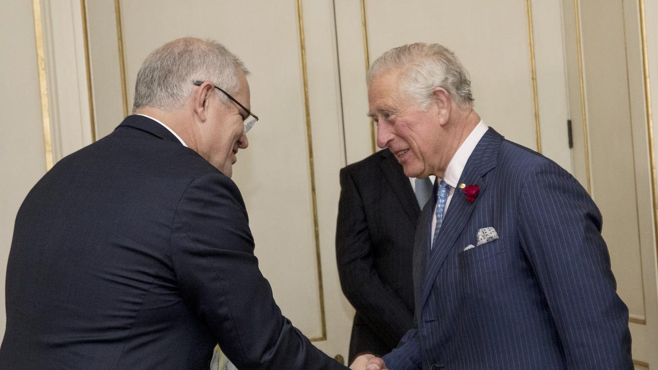 Prince Charles appeared taken aback at the possibility Scott Morrison might not go to Glasgow. Picture: Ella Pellegrini