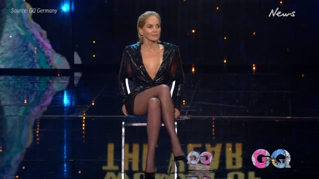 Sharon Stone re-enacts infamous Basic Instinct scene