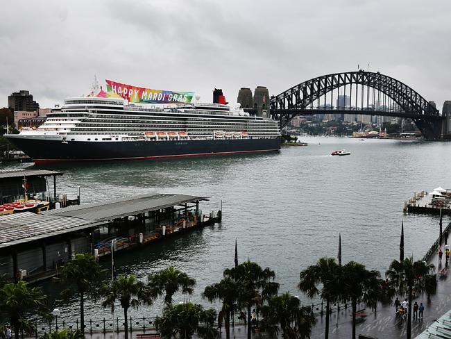 Cunard's fitting tribute to Sydney's Mardi Gras Festival will include a 2.2 metre stilett